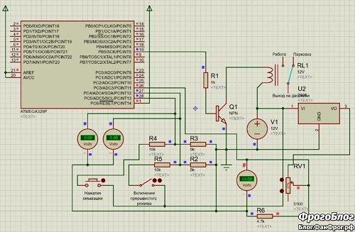 Дворники с регулируемой паузой своими руками на Arduino - схема устройства