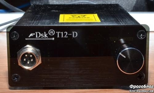 Паяльная станция Dsk T12-D OLED - вид спереди