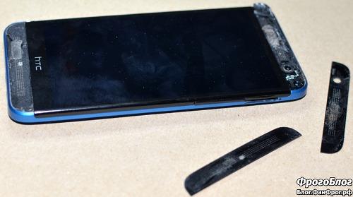Разборка HTC E8 и замена динамика c AliExpress