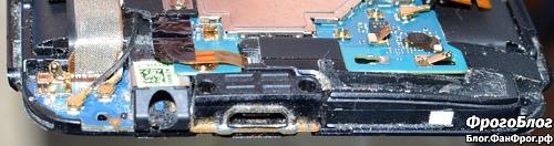 Разборка HTC E8 и замена динамика c AliExpress - усиленный разъём microUSB