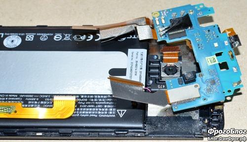 Разборка HTC E8 и замена динамика c AliExpress - верхняя плата