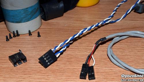 Штекер самодельног кабеля внешнего питания для Yongnuo YN467-II