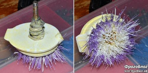 Самодельная насадка для чистки ванн на дрель, перфоратор или шуруповёрт после долгой эксплуатации