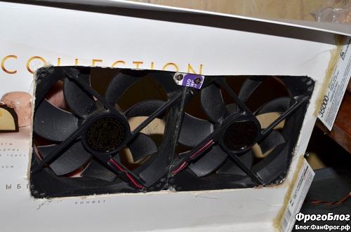 Блок вентиляторов испарителя-охладителя, вид снизу