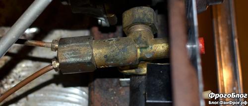 Рабочий цилиндр с электромагнитным клапаном газ-контроля