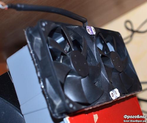 Вентиляторы самодельного увлажнителя-охладителя воздуха