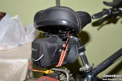 Велосипедная сумка с аккумулятором под сиденьем велосипеда