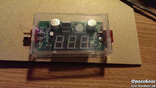 Преобразователь напряжения в самодельном корпусе из коробки от аудиокассеты